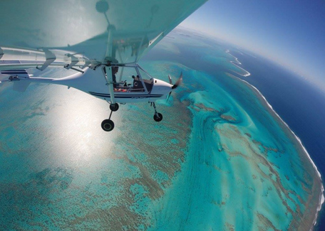 Coral reef by plane in New Caledonia