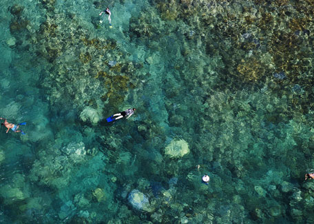 Snorkeling in the lagoon in New Caledonia