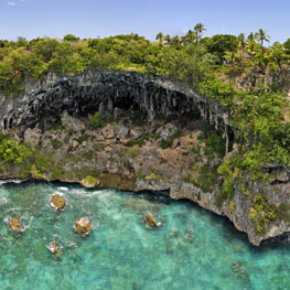 The Jokin cliffs in Lifou the Loyalty Islands