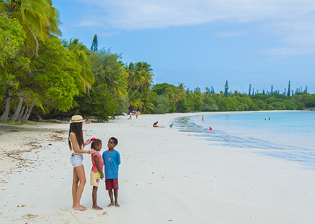 A beach in the Isle of Pines, New Caledonia
